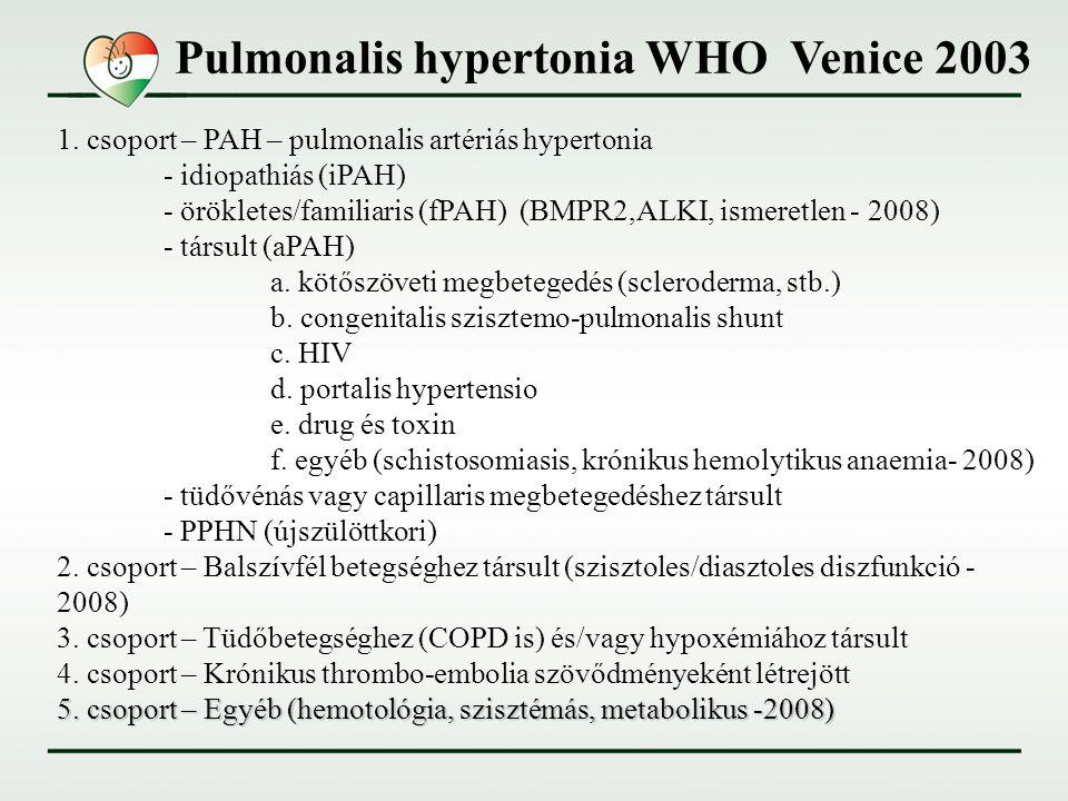 a pulmonalis hipertónia az alkoholos tinktúrák magas vérnyomás esetén