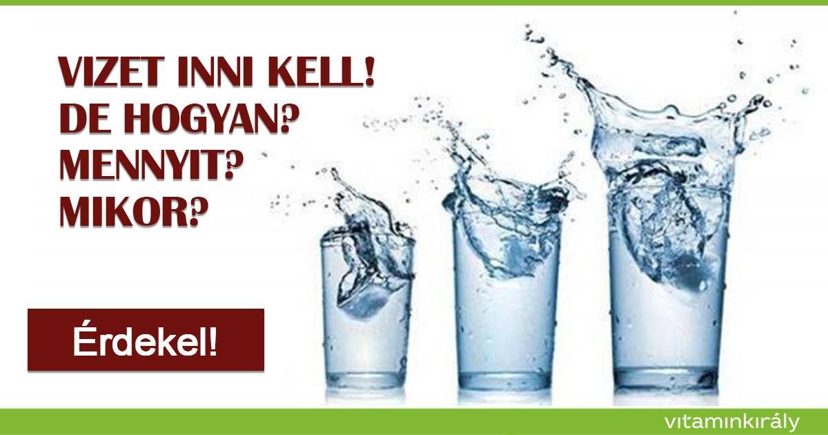 magas vérnyomás esetén mennyi vizet kell inni naponta