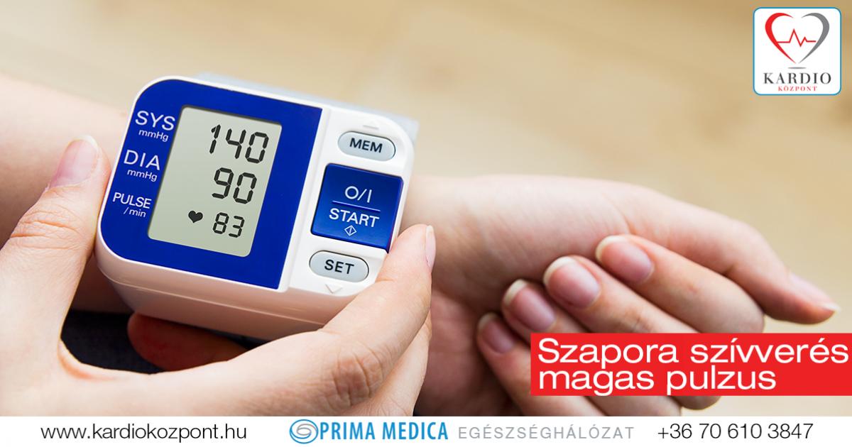 magas vérnyomás és gyors pulzus milyen fizikai aktivitás magas vérnyomás esetén
