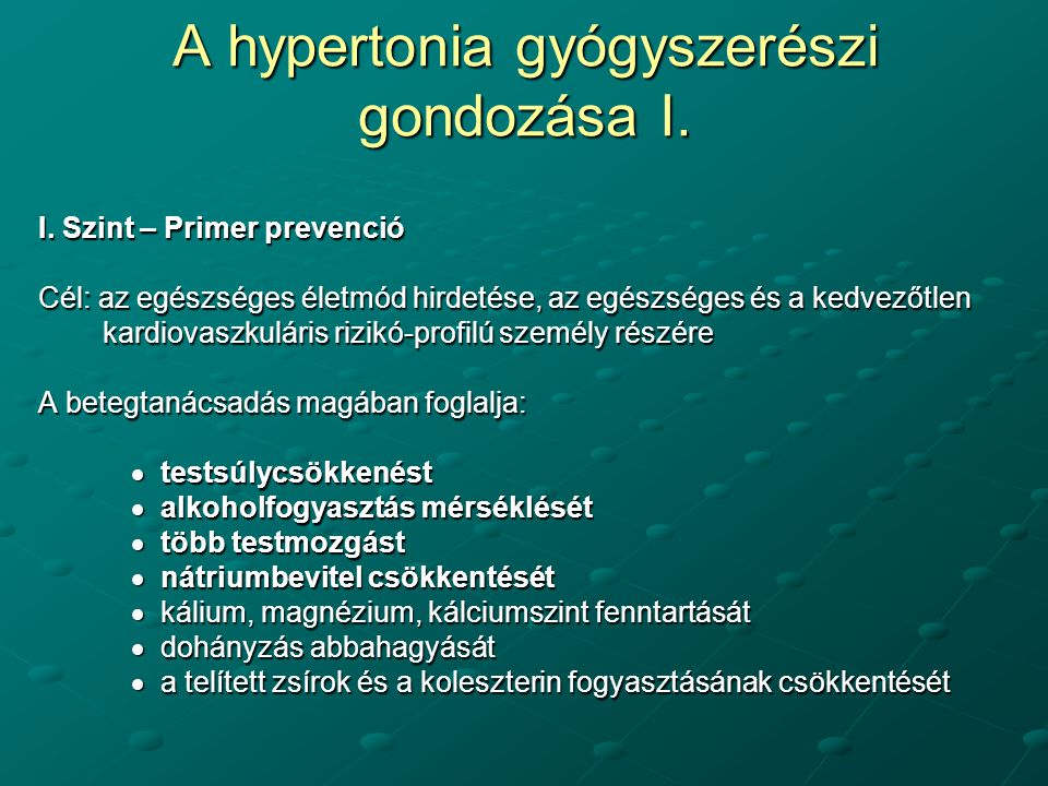 hipertónia korlátozása magas vérnyomás mm Hg
